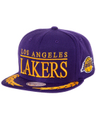 Mitchell & Ness Los Angeles Lakers Laurels Expansion Adjustable Snapback Hat - Purple