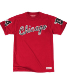 Mitchell And Ness Chicago Bulls 1984-1985 Chicago Wordmark T-Shirt - Red L